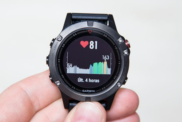 Garmin Fenix 5 - FC últimas 4 horas