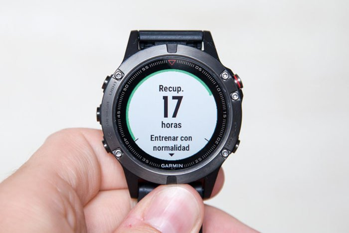 Garmin Fenix 5 - Tiempo recuperación