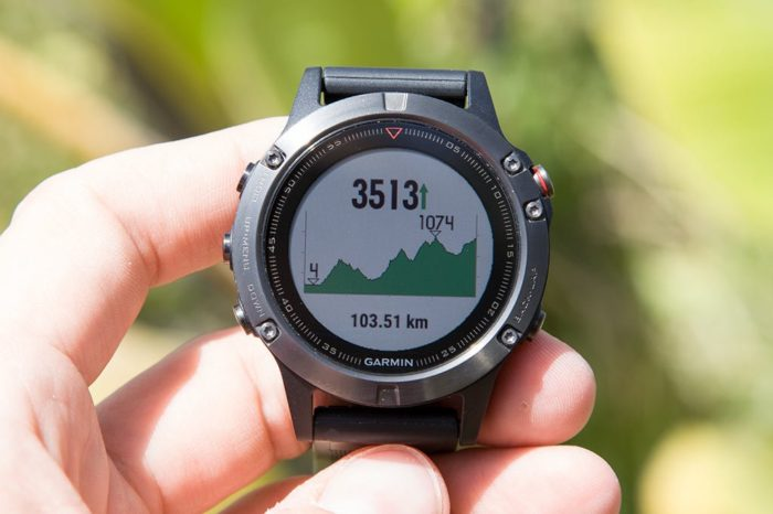 Garmin Fenix 5 - Height graph