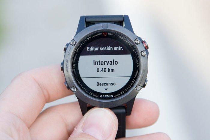 Garmin Fenix 5 - Intervalos reloj