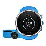 Suunto Spartan Sport HR - Reloj GPS para Atletas Multideporte, 10 h Batería, Resistente al agua, Monitor Frecuencia Cardiaca + Cinturón FC, Pantalla Táctil en Color, Azul, SS022652000