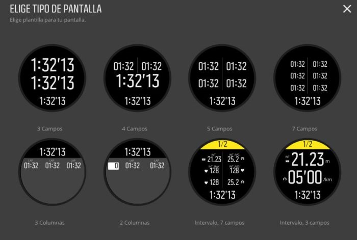 Suunto Spartan - Displays