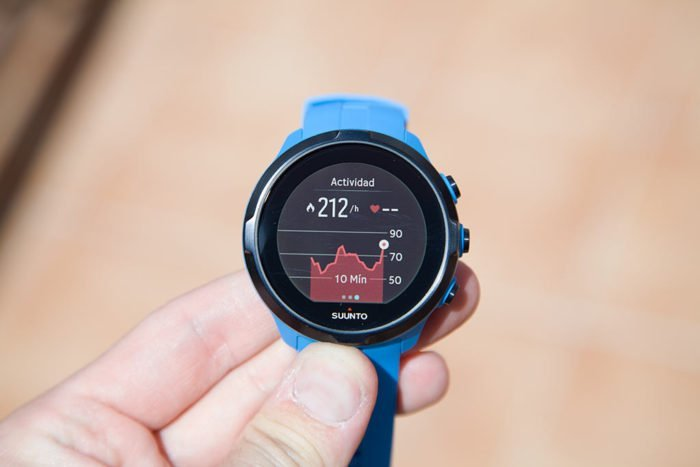 Suunto Spartan - Pulse graph