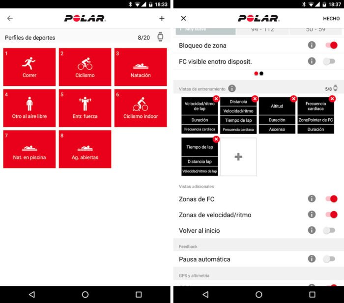 Polar M430 - Display Settings