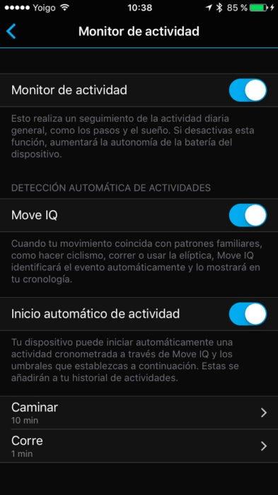 Garmin Vivosmart 3 - Actividad