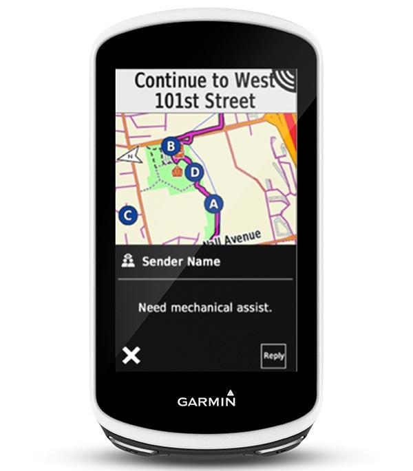 Garmin Edge 1030 - Mensajería
