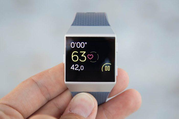 Fitbit Ionic - Pantalla de datos