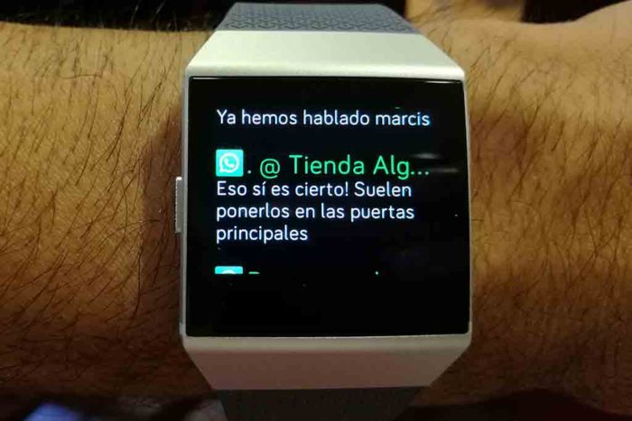 Fitbit Ionic - Notificaciones