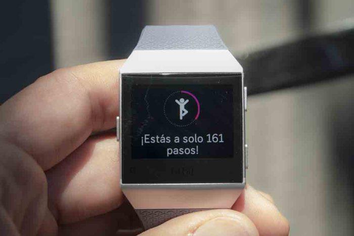 Fitbit Ionic - Pasos para la hora