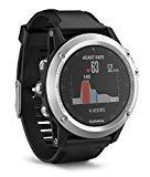 Garmin Fenix 3 HR - Reloj multideporte con GPS y  pulsometro en la muñeca, color Plata/Correa Negra, Talla única