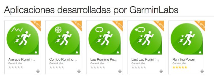 Aplicaciones Garmin Running Power