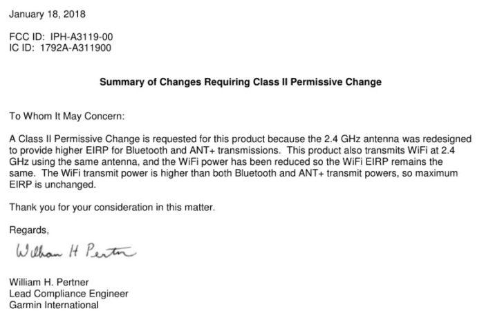 Permissive change letter