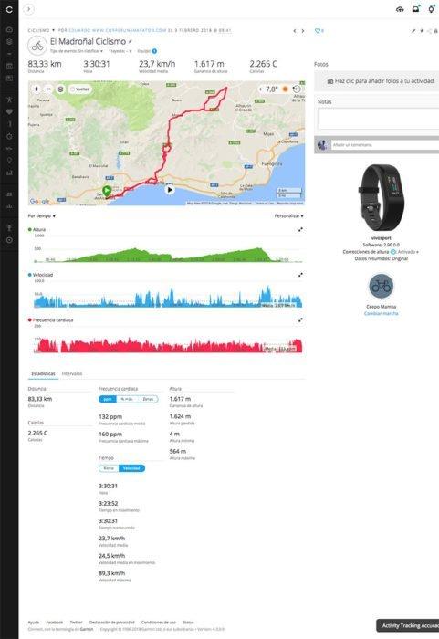 Garmin Vivosport - Activity