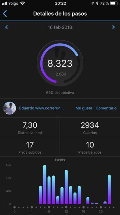 Vivosport Garmin Connect - Steps
