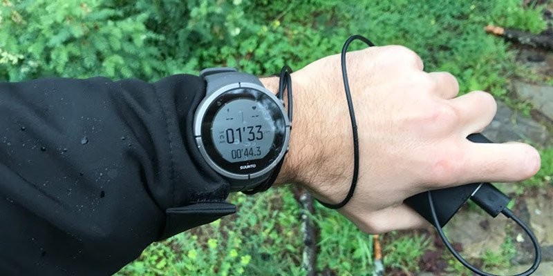 Charge GPS watch while running