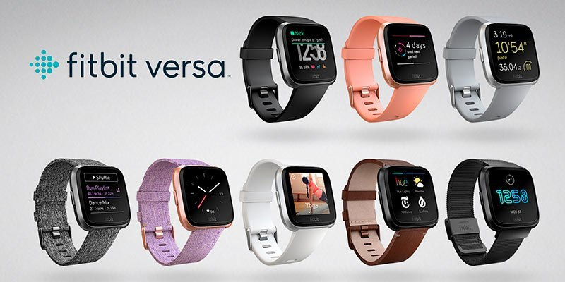 Smart watch with Fitbit Versa activity measurement