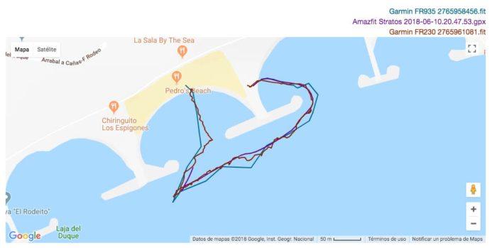 Amazfit Stratos - GPS aguas abiertas