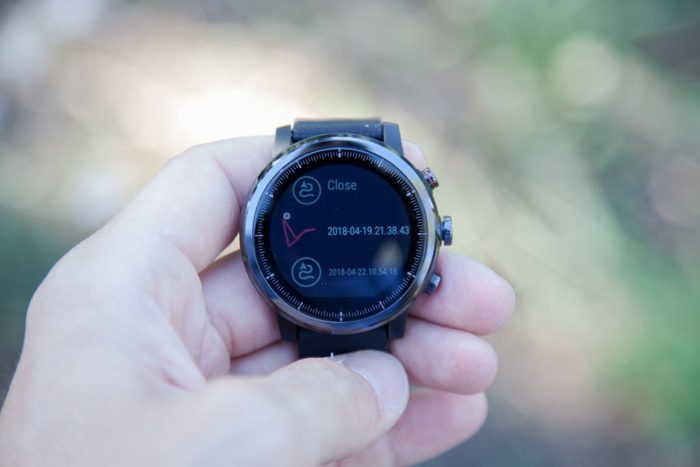 Amazfit Stratos - Import route