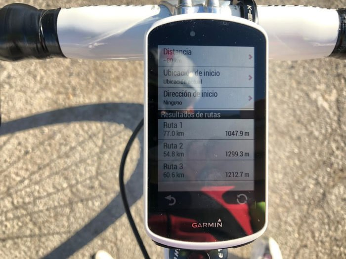 Garmin Edge 1030 - Routes to and from