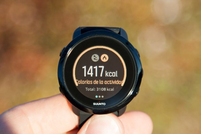 Suunto 3 Fitness - Calories consumed during the day