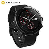 AMAZFIT Stratos Smartwatch, Huami sports watch with GPS, water resistant, VO2max fitness level analysis, heart rate sensor, touch screen, notifications, works with iOS and Android
