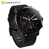 AMAZFIT Stratos Smartwatch, Huami reloj deportivo con GPS, resistente al agua, análisis de nivel de condición física VO2max, sensor de frecuencia cardíaca, pantalla táctil, notificaciones, funciona con iOS y Android