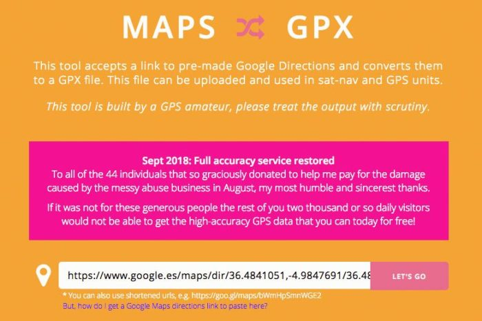 Maps to GPX