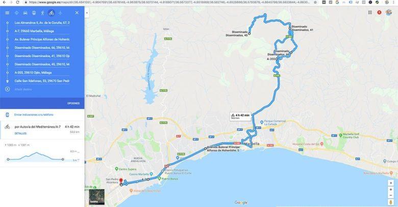 Ruta Google Maps a GPX