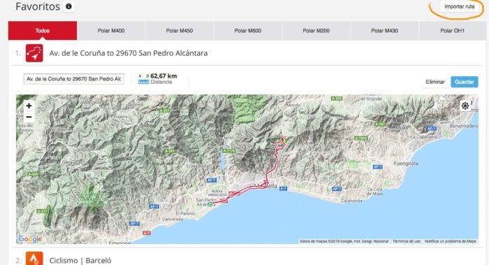 GPX route at Polar