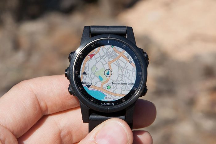 Garmin Fenix 5 Plus - Controles de mapa