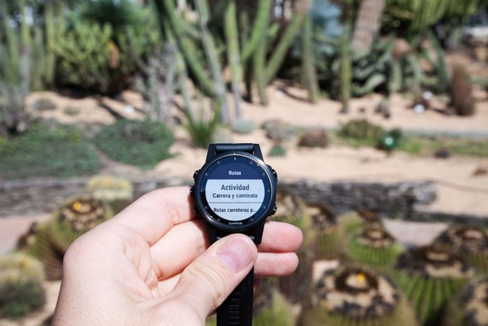 Garmin Fenix 5 Plus - Route Type Selection