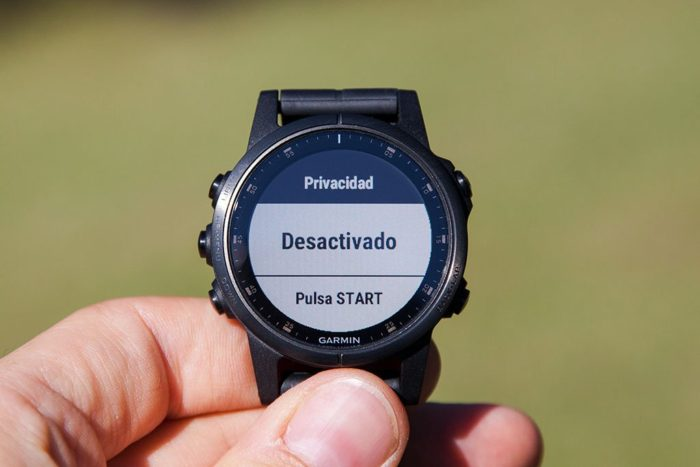Garmin Fenix 5 Plus - Privacy Mode