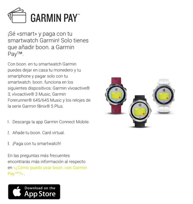 Garmin Pay Boon