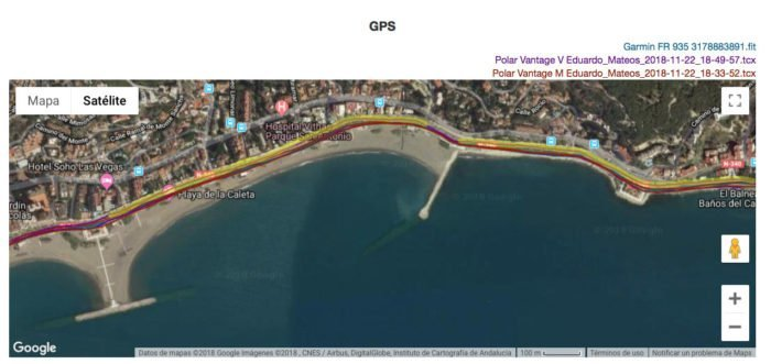 Polar Vantage - GPS Comparison