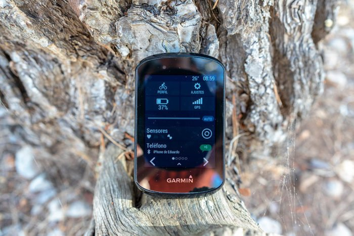 Garmin Edge 830 - Menú superior