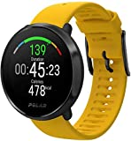 Ignite Polar - Fitness watch with integrated GPS, wristwatch, training guides - man/woman - yellow M/L