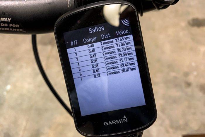 Garmin Edge 530 - Jump Summary