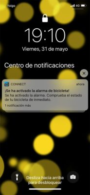 Garmin Connect - Notificación alarma