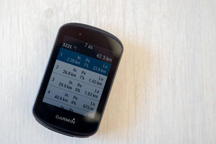 Garmin Edge 530 - ClimbPro List