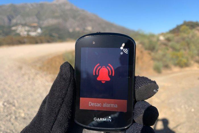 Garmin Edge 830 - Alarma