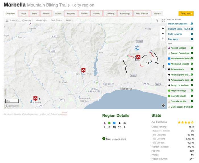 Trailforks Marbella