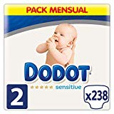 Dodot Sensitive Diapers Size 2, 238 Diapers, 4-8 kg