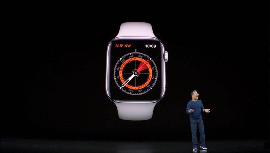 Apple Watch Series 5 - App brújula