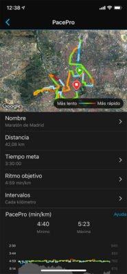 Garmin Fenix 6 - Crear estrategia PacePro