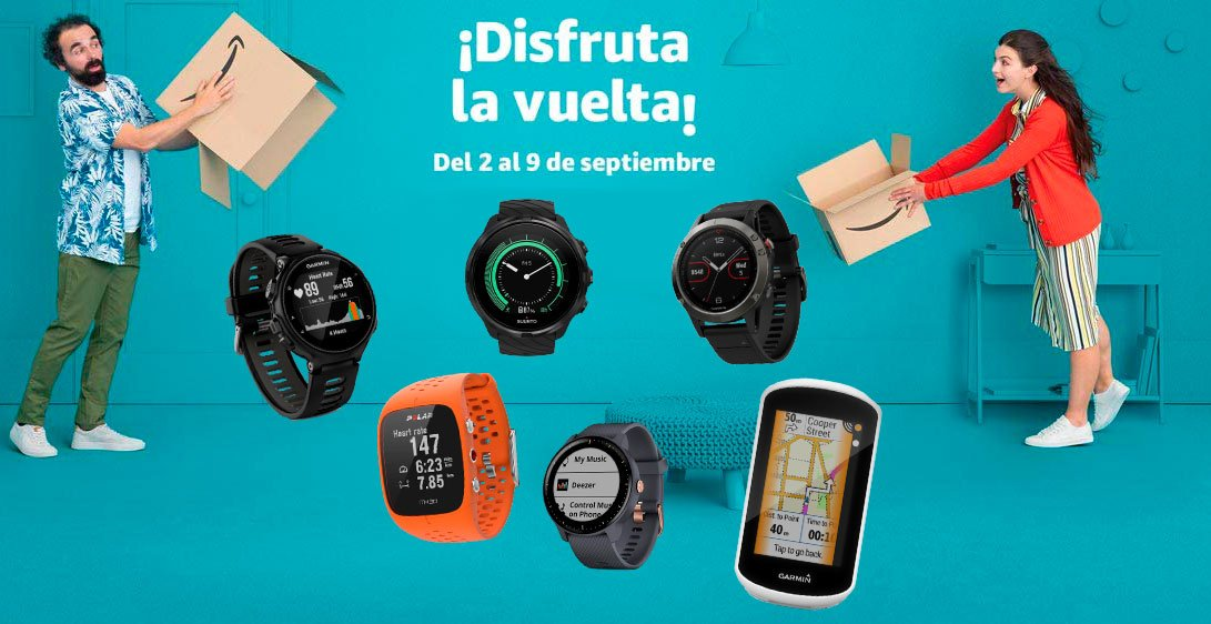 Ofertas Garmin Polar Suunto en Amazon