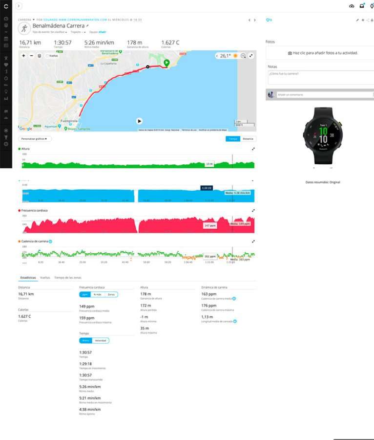 Garmin Forerunner 45 - Garmin Connect