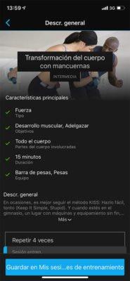 Garmin Connect - Sesiones de entrenamiento guiadas