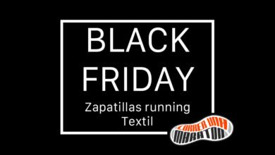 Black Friday running shoes and textile