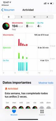 Apple Watch - Aplicación salud