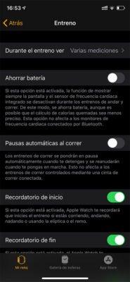 Apple Watch - Configurar perfiles